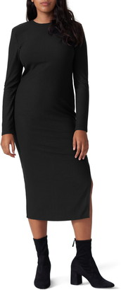 Universal Standard Lexi Long Sleeve Ribbed Midi Dress
