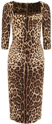Dolce & Gabbana Leopard Print Dress