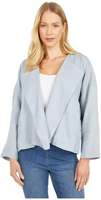 Eileen Fisher Petite Drape Front Jacket (Dawn) Women's Clothing