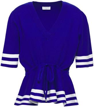 Claudie Pierlot Knitted Peplum Top