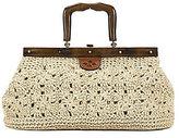 Patricia Nash Carmen Straw Crochet & Wood Satchel