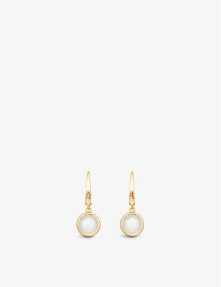 Astley Clarke Stilla 18ct gold-plated moonstone earrings, Women's, Yellow gold