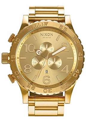 Nixon A083502 51-30 Chrono A083502 All Gold Men's Watch (51mm. Gold Watch Face/ 25mm Gold Stainless Steel Band)