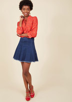 ModCloth Here and Spirited Mini Skirt in XXS