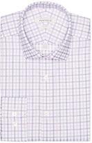 Perry Ellis Slim Fit Lilac Check Dress Shirt