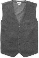 Hackett - Flannel And Herringbone Wool Waistcoat
