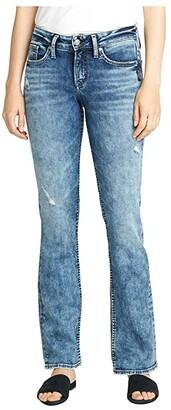 Silver Jeans Co. Suki Mid-Rise Curvy Fit Slim Boot Jeans L93616SSX220 (Indigo) Women's Jeans