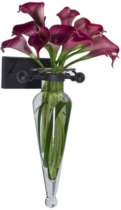 clear Danyab Amphora Vase On Iron Sconce With Finials,