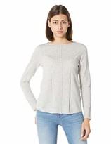 Peplum Pointe Women's Petite Lightweight Crewneck Long Sleeve Cashmere Knit Pullover Sweater (Light Gray S/4-6)