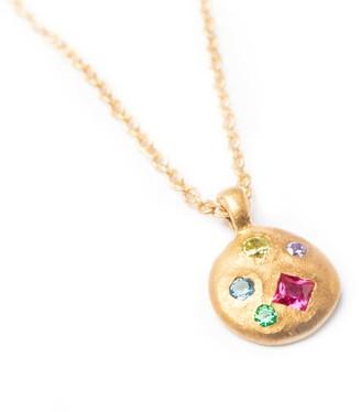 Seol + Gold 18ct Gold Vermeil Rainbow Gemstone Necklace