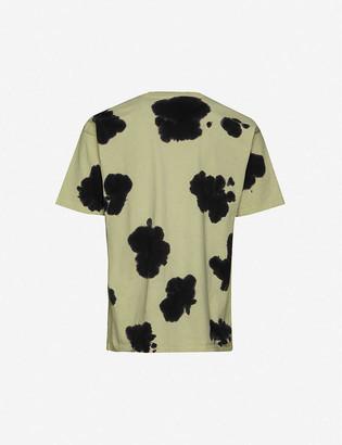 Obey Acid Crash Cow tie-dye cotton-jersey T-shirt
