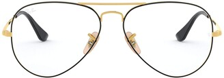 Ray-Ban RX6489 Aviator Metal Eyeglass Frames Non Polarized Prescription Eyewear