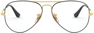 Ray-Ban Unisex's Rx6489 Aviator Metal Eyeglass Frames Prescription Eyewear