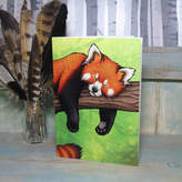 STUDY Lyndsey Green Illustration Red Panda Illustration Notebook Lined Pages