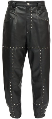 Isabel Marant Viamao Studded Leather Trousers - Black