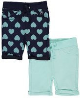 """Limited Too Baby Girls' """"Solids & Hearts"""" 2-Pack Shorts"""