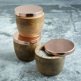 west elm Wood + Copper Salt Cellar