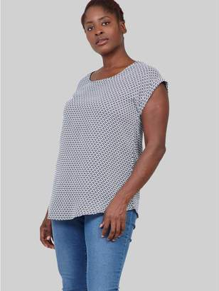 M&Co Izabel Curve geo print t-shirt