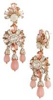 Marchesa Women's Sheer Bliss Drama Chandelier Earrings