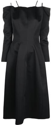 Maison Rabih Kayrouz Pleat-Detail Mid-Length Dress