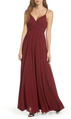 Lulus Surplice Chiffon A-Line Gown