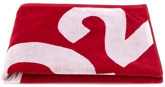 DSQUARED2 logo beach towel