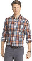 Izod Men's Fieldhouse Regular-Fit Woven Button-Down Shirt