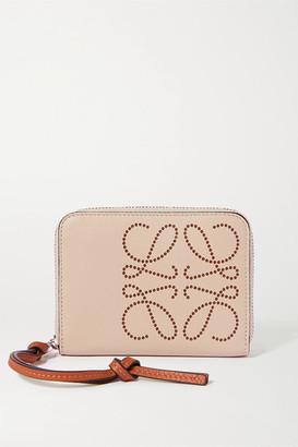 Loewe Embossed Leather Wallet - Beige