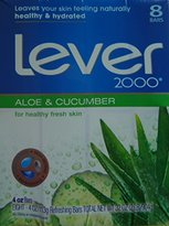 Alöe Lever 2000 and Cucumber Bars, 4 oz, 8 count