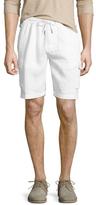 Toscano Drawstring Linen Cargo Shorts