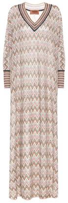 Missoni Striped stretch-silk maxi dress