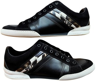 Christian Dior B18 Black Leather Trainers