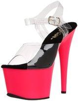 Pleaser USA Women's Adore-708UV/C/NPN Platform Sandal