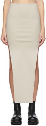 Rick Owens Grey Easy Sacriskirt Skirt