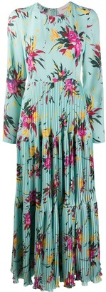 La DoubleJ Pleated Skirt Floral Print Dress
