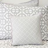 Caden Lane Mod Lattice Square Throw Pillow in Grey/White