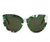 Dolce & Gabbana Banana leaf-print cat-eye sunglasses