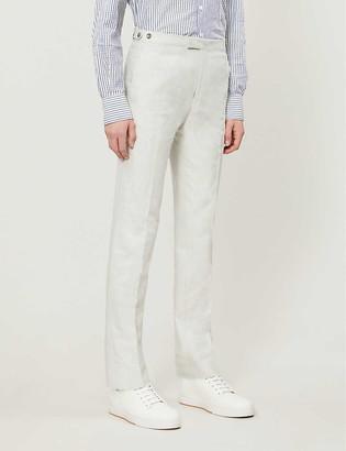 Reiss Well melange-pattern cotton trousers