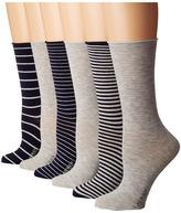 Lauren Ralph Lauren Stripe Roll Top Trouser 6-Pack Women's Low Cut Socks Shoes