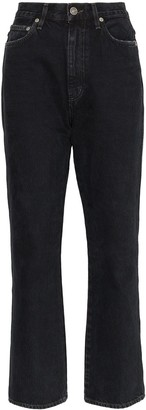 A Gold E Agolde high-waisted straight jeans