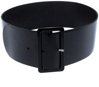 Christian Dior Black Patent Leather Wide Waist Belt 95CM