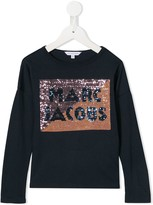 Little Marc Jacobs sequined logo long-sleeved T-shirt