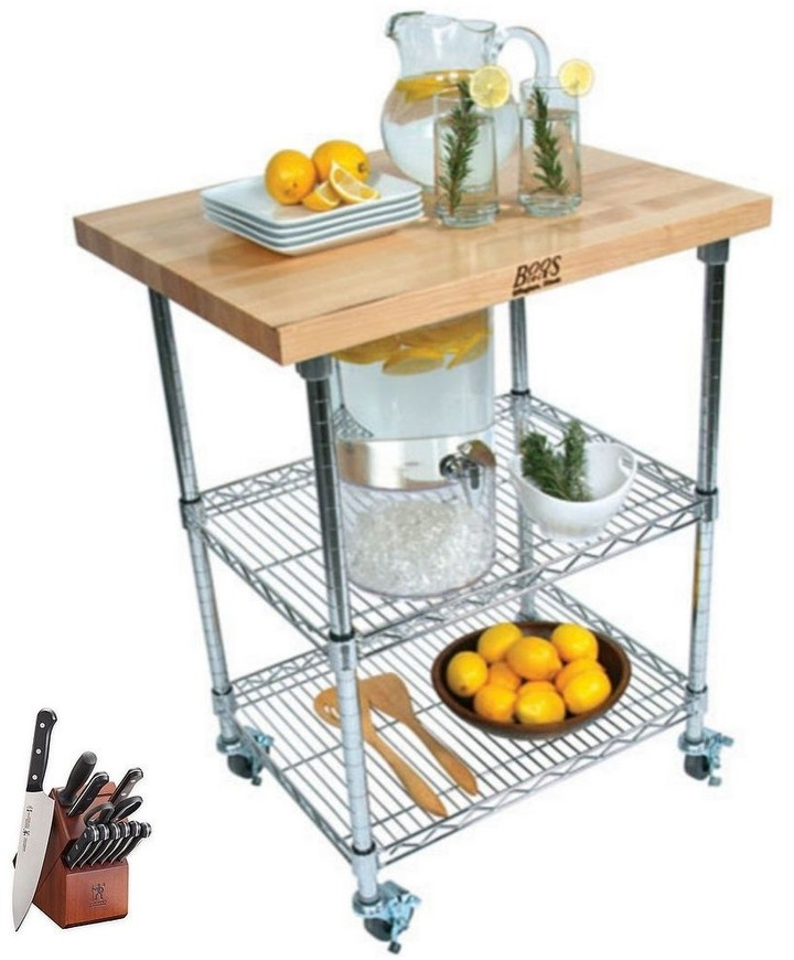 Butcher Block Kitchen Cart Shop The World S Largest Collection Of Fashion Shopstyle