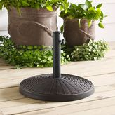 Walker Edison Wicker Style Round Umbrella Base