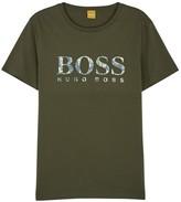 Boss Orange Tacket Olive Logo Cotton T-shirt