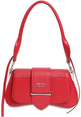Prada Sidonie Grained & Smooth Leather Bag
