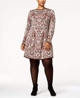 Style&Co. Style & Co Plus Size Jacquard Sweater Dress, Created for Macy's