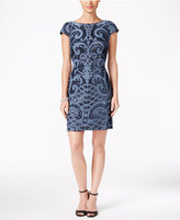 Adrianna Papell Sequined Scoop-Back Dress