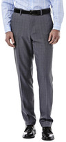 Haggar eCLo Stretch Heathered Plaid Slack- Straight Fit- Flat Front