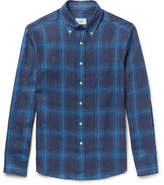 Dunhill Button-Down Collar Checked Linen Shirt